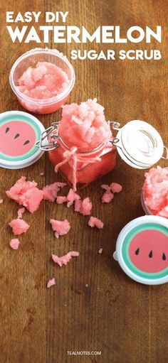 Watermelon Sugar Scrub Watermelon Sugar Scrub Recipe Easy Homemade sugar scrub for super soft skin<br> I must confess I LOVE anything and everything watermelon. And so naturally, I had to make a watermelon themed sugar scrub, because why the heck … Sugar Scrub Homemade, Sugar Scrub Recipe, Homemade Recipe, Diy Body Scrub, Diy Scrub, Zucker Schrubben Diy, Lavender Sugar Scrub, Easy, Body Scrubs