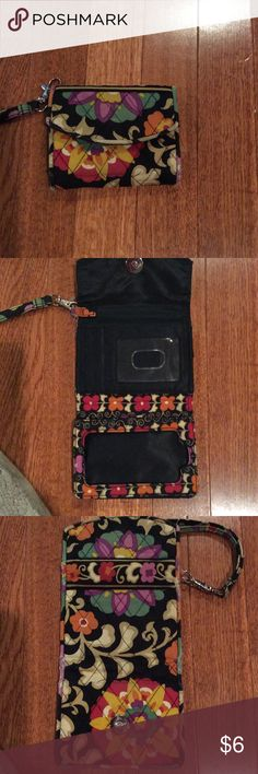 Wallet Vera Bradley small wallet. In used condition but ver useable for the price. Not sure if there was supposed to be plastic over area in picture 4 or not. So if there was , it is missing. Minimal fading. Vera Bradley Accessories Watches