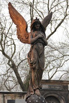 Angel in Vyšehrad Cemetery by Michael Hamburg Cemetery Angels, Cemetery Statues, Cemetery Headstones, Old Cemeteries, Cemetery Art, Angel Statues, Graveyards, Angel Sculpture, I Believe In Angels