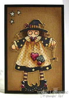 Witch with stars by SophieLaFontaine - Cards and Paper Crafts at Splitcoaststampers