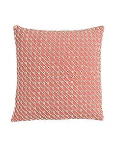 """Pillow with Rope Applique, 20""""Sq."""