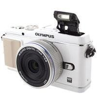 Olympus PEN E-P3 12.3 MP Live MOS Interchangeable Lens Camera with 17mm Lens (White) by Olympus. $627.44. Olympus PEN E-P3 12.3 MP Live MOS Micro Four Thirds Interchangeable Lens Digital Camera with 17mm Lens - White. Save 30% Off!