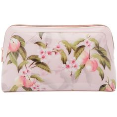 Ted Baker Brenton Peach Blossom Wash Bag ($40) ❤ liked on Polyvore featuring beauty products, beauty accessories, bags & cases, dop kit, ted baker makeup bag, travel bag, travel kit and cosmetic purse