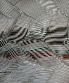 Layered fabrics (polyester and acrylic forms) by  Jane Harper