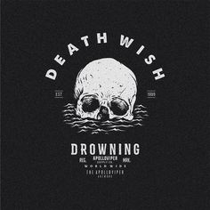 Drowning Shirt Logo Design, Badge Design, Tee Shirt Designs, Tee Design, Design Kaos, Skeleton Art, Graphic Design Posters, Skull Art, Graphic Design Inspiration