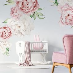 2020 Trends for Cute Baby Girl Room Ideas Baby Girl Room Decor, Boy Girl Room, Baby Room Diy, Baby Boy Rooms, Baby Decor, Nursery Decor, Nursery Themes, Kids Room Wall Decals, Childrens Wall Stickers