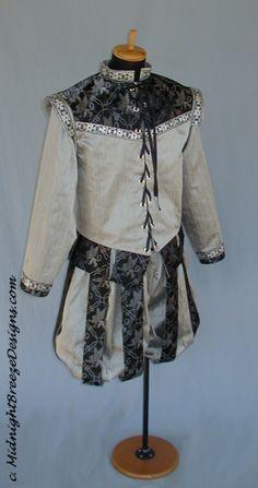 MADE TO ORDER Men's Silk Renaissance Court Costume - Doublet, Slops. $220.00, via Etsy.