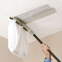 You Can Attach A Plastic Bag To This Popcorn Ceiling Scraper From Homax To  Make Scraping