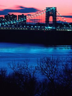 George Washington Bridge at sunset