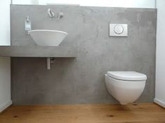 Make your own wall with a concrete look - Trend structure concrete look - Rosegold & MarbleA concrete look wall gives every room industrial loft character. Making the concrete look yourself is very easy. Wc Design, Beton Design, Living Room Flooring, Laundry Room Design, Decorative Tile, Concrete Floors, Bathroom Inspiration, Sweet Home, Flats
