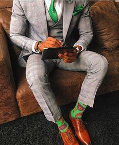 Dapper down to the socks • @styleby_nk