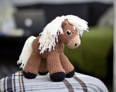 Amigurumi Pattern Horse Crochet Pattern Stuffed Animal Toy