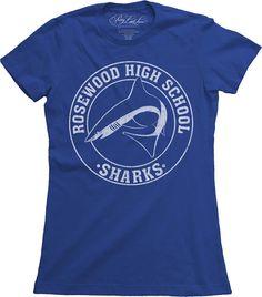 Pretty Little Liars Rosewood High School Sharks Royal Blue Juniors T-shirt  Raiders T Shirt 88a78e2a4