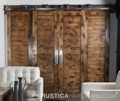 Bypass Barn Door Hardware System - Use this ByPassing Sliding Door Hardware to allow for doors to slide in front of and in back of each other to conserve space. Use our ByPassing system to take advantage of limited spaces.