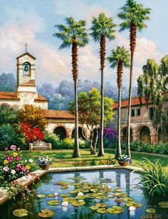 ...'Palm Reflection' by Sung Kim Painting