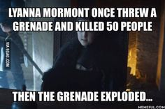 Lyanna Mormont is the Chuck Norris of game of thrones