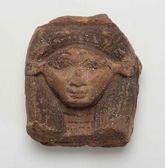 Clay sculpture head of Hathor (n.d.) | Museum of Fine Arts, Boston