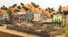 Model railroad - Have you found a model railroad at a pal's house, at a show or perhaps hobby retailer? Have a look at the several model trains. Print out building for model railroad format. Ho Trains, Model Trains, Old Western Towns, Model Train Layouts, Train Tracks, Best Model, Models, Model Building, Main Street