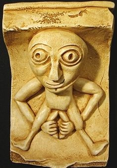 Sheela na gigs-displayed on buildings,churches in Europe to encourage women to not be afraid to give birth