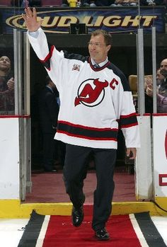 Scott Stevens greets the crowd. New Jersey Devils da5ee2108
