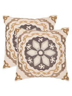 Taupe/Gold Pillow (Set of 2)