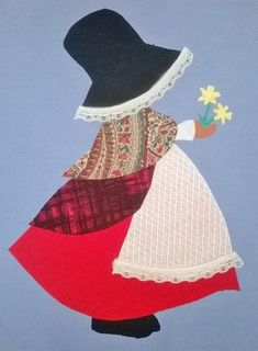 Instant Download. Welsh Sun Bonnet Siwan quilt by OakendOriginals