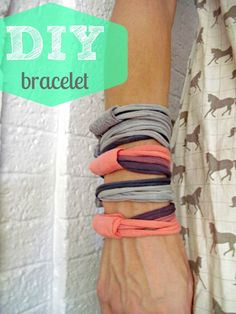 DIY T-Shirt Bangles - easy, fun tutorial