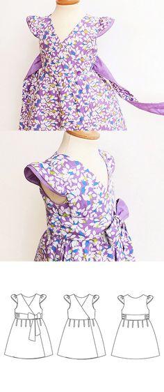 FAIRY Girl Dress pattern Pdf sewing pattern Butterfly by PUPERITA