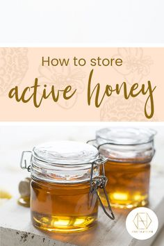 What's the best way to store active honey? Best Honey, My Honey, Australian Honey, High Glucose Levels, Sugar Cravings, Low Sugar, Glass Jars, Granola, Food And Drink