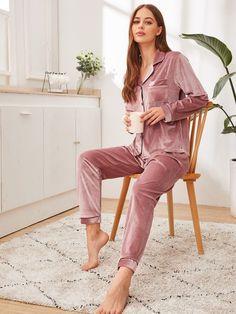Shop Striped Satin Cami Top & Pants PJ Set at ROMWE, discover more fashion styles online. Sleepwear Sets, Sleepwear Women, Loungewear, Pijamas Women, Satin Cami Top, Fashion News, Fashion Outfits, Women's Fashion, Pajama Outfits