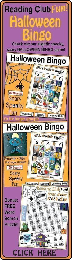 HALLOWEEN BINGO - fun games to foster spelling, vocabulary and listening skills! Halloween Word Search, Halloween Puzzles, Halloween Bingo, Halloween Words, Bingo Games, Fun Games, Worksheets, Scary Games, Printable Puzzles For Kids