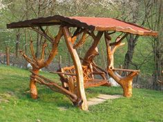 Fabulous!!!!  A swing made entirely from Tree Limbs...