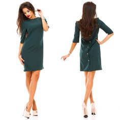 2016 autumn new fashion womens sheath dress casual o-neck Half sleeved back of the vestidos clothes  plus  size of the button