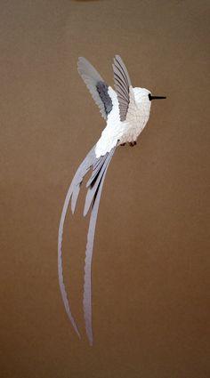 Paper Hummingbird in progress by ZackMclaughlin on DeviantArt