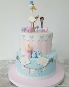 33 Ideas for baby reveal party ideas easter eggs Hunting Birthday Cakes, Birthday Cake Girls, First Birthday Cakes, Torta Baby Shower, Baby Shower Cakes For Boys, Birday Cake, Cupcakes, Baby Shower Cake Designs, Baby Reveal Cakes