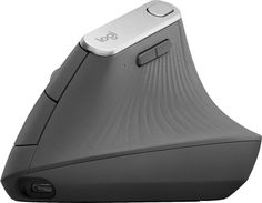 Logitech - MX Vertical Wireless Optical Mouse - Graphite