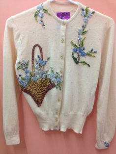 shabby chic..  Cashmere Beaded Floral