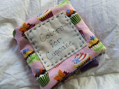 Baby Book of Colors using fabric scraps