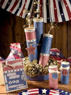 Crafts - Centerpieces - Sparkling Celebration Centerpiece-- toilet and paper towel rolls