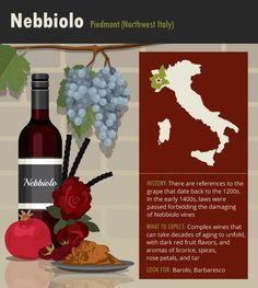 Nebbiolo Grapes #Wine #Wineeducation #Italy