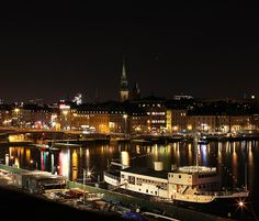 Stockholm, Sweden at night |Travel - a cruise destination and my visit was cut short by the cruise's timeline. Worth going back to this beautiful place and really take my time to immerse the next time around.