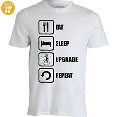 One Piece Franky Inspired Eat Sleep Upgrade Repeat Men's T-Shirt XX-Large (*Partner-Link)