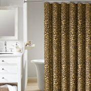 Mainstays Animal Skin Leopard Shower Curtain, Gold