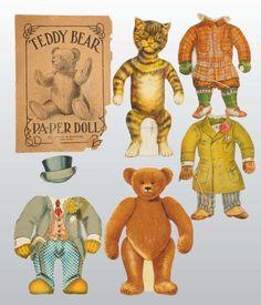 Lot of 2: Animal Paper Dolls.