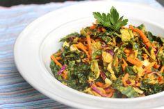 Superfood Slaw Bowl with Carrot Miso Dressing #glutenfree #vegan #vegetarian