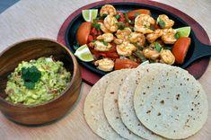 Shrimp Fajitas & Homemade Guacamole!