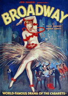 Vintage Broadway 1920s Film Movie Posters and Prints