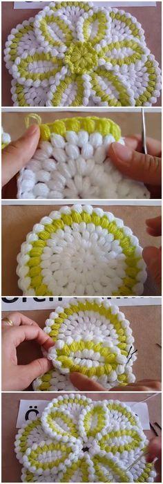 48 Ideas for crochet lace flower pattern ganchillo Crochet Flower Patterns, Afghan Crochet Patterns, Crochet Motif, Crochet Doilies, Crochet Flowers, Crochet Stitches, Knitting Patterns, Hat Patterns, Pattern Flower