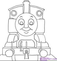 thomas the train pictures to color