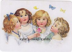 SD45 LOVELY CHILDREN swap playing cards MINT CONDITION kids with butterflies